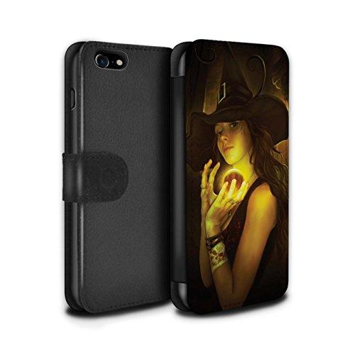 Officiel Elena Dudina Coque/Etui/Housse Cuir PU Case/Cover pour Apple iPhone 7 / Orbe/Sorcellerie Design / Magie Noire Collection Orbe/Sorcellerie