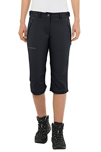 VAUDE Damen Hose Farley Stretch Capri II, Black, 42, 04578 Black Stretch Capri Pants