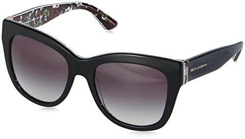 Dolce & gabbana occhiali da sole dg4270 top black/print rose, 55