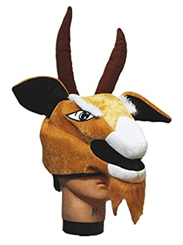 Brown Goat Sheep Warm Hat Costume Unisex Children Adult for Halloween Party