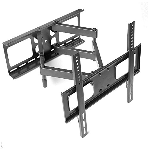 """TANOTIS Swivel Tilt Dual Arm Full Motion Tv Wall Mount for Lcd/LED Plasma TV's Upto 32"""" to 55"""" Inch for Flat or Corner Mounting with Remote Stand"""