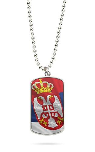Serbien Wm (Kette Dog Tag Anhänger Serbien Fahne 2)