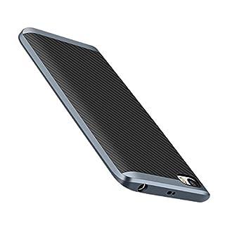 Xiaomi Mi5 Hülle, Estuyoya Premium Handyhülle Hybrid [Ultra Resistent] Flexibler Silikon-Innenkörper [Ultra Dünn] Starrer Außenrahmen PC-Metalleffekt - Grau
