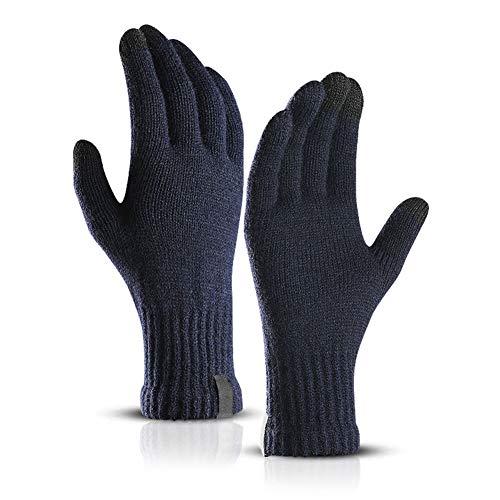 SDGDFXCHN Winter Strickhandschuhe, Touchscreen Warm Thermal Soft Futter Elastische Manschette SMS Anti-Rutsch-4 Farbwahl für Frauen Männer