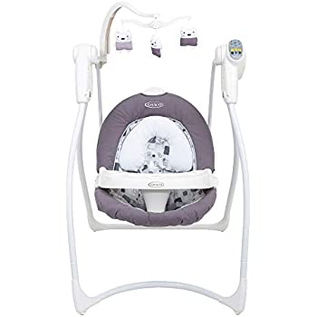 Schommelstoel Baby Graco.Badabulle Comfort Baby Swing White Grey Amazon Co Uk Baby