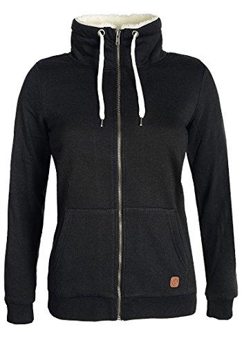 DESIRES Derby Pile Zip - Felpa con Cappuccio da Donna, taglia:M;colore:Black (9000)