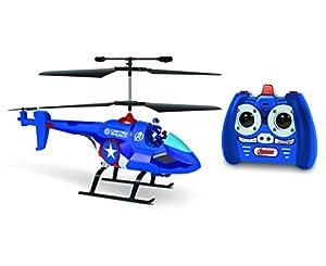 World Tech Toys-Heroes 3.5CH Captain America con Figura Marvel IR helicóptero, 33846