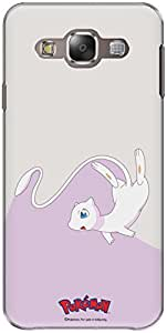 The Racoon Lean printed designer hard back mobile phone case cover for Samsung Galaxy E5. (mew)