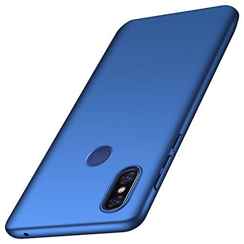 anccer Serie Matte für Xiaomi Mi Mix 3 Hülle, Elastische Schockabsorption & Ultra Thin Design (Glattes Blau)