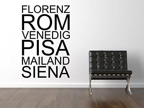 Florenz Rom Wandtattoo Black Certified Freak