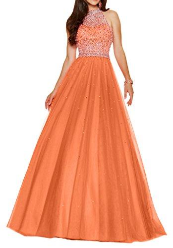 Victory Bridal - Robe - Trapèze - Femme Orange - Orange
