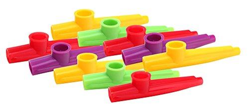 Classic Cantabile Fun Kazoo 10er Pack (Kunststoff Pfeife, sehr leichte Ansprache, weicher, sehr ausgeprägter, warmer Ton)