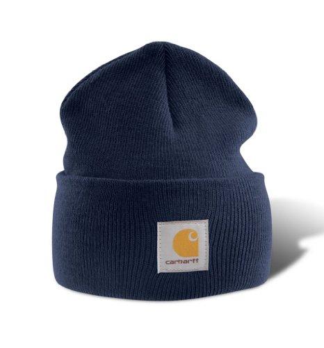 Carhartt Watch - Berretto A18 lavorato a maglia, colore blu navy