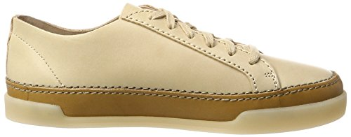 Clarks Hidi Holly, Sneakers Basses Femme Beige (Nude Leather)