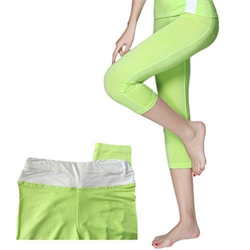 f2fa2278521f7 Toamen Pantalons de sport Femmes, Taille haute Collants de yoga Jambières  de yoga entraînement Aérobie