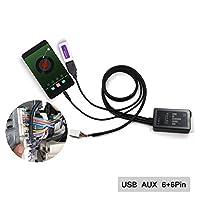 محول Aux، محول USB AUX في محول سيارة ستيريو رقمي Cd 3.5 مم واجهة Aux لـ Toyota 6+6 Pin Camry 2005-2011، Avensis 2003-2011، Corolla 2005-2011، Lexus RX330 GS300 IS220