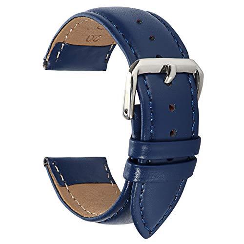 mband aus Leder 15mm Uhrenarmband aus Leder 15mm blaues Uhrenarmband für Damen-Sportuhrband ()