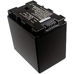 subtel® Batterie premium compatible avec JVC GZ-E15, GZ-EX315, -EX215, GZ-HM550, -HM30, -HM310, -HM330, GZ-HD620, GZ-MG750, GZ-MS110, -MS210 (4450mAh) BN-VG107,-VG108,-VG114,-VG121 Batterie de recharge, Accu remplacement