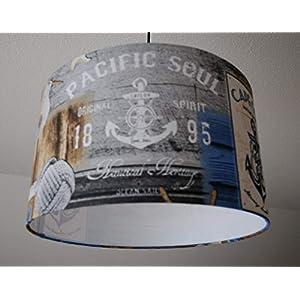 """Deckenlampenschirm""""Pacific Soul"""" D 40cm. Farbe und Größe auf Anfrage"""