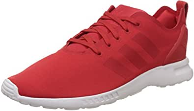 adidas Zx Flux Smooth, Baskets Basses Femme, Rot (Lush Red S16-St/Lush Red S16-St/Core White), 36 EU