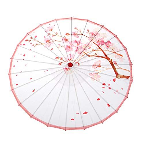 Sonnenschirme Kostüm - eliaSan Seidenschirm 33,5 '' Japanisch Chinesisch Regenschirm Sonnenschirm für Hochzeit Regenfest Dekorative Öl Papier Regenschirm Sonnenschirm für Fotografie, Kostüme, Cosplay