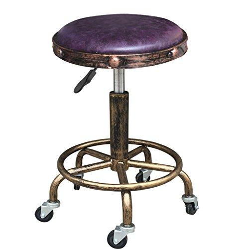 Wenanliu sgabello da lavoro vintage in acciaio rinforzato con rivestimento in poliuretano poltrona per parrucchiere sedia da bar con sgabello da bar sedia per manicure sgabello per parrucchiere sgabel