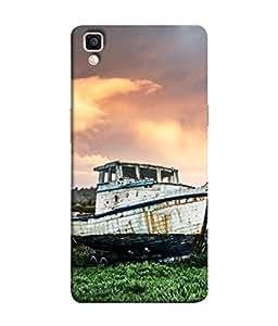 PrintVisa Designer Back Case Cover for Oppo F1 Plus :: Oppo R9 (Old Broken Ship In The Natures Lap)