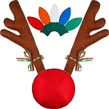 23 Piezas de Decoraciones de Coche de Navidad incluye 20 Piezas de Imanes en Forma de