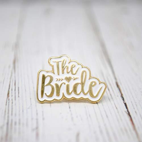 The Bride Pin Badge - Braut Hochzeit Junggesellinnenabschied Hen Do Gastgeschenke Pin Badge