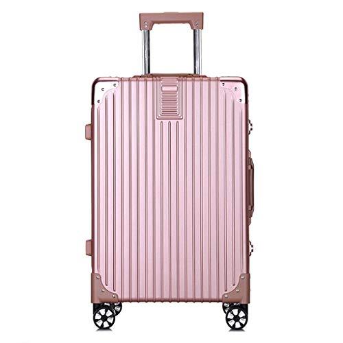 ABS Koffer Trolley Bunt Machen Sie Reisekoffer Spinner Räder Weiter Die Gepäck TSA Verschluss Geschäftsreise Ferien Für Frauen Männer Rollen Pink-20 inches
