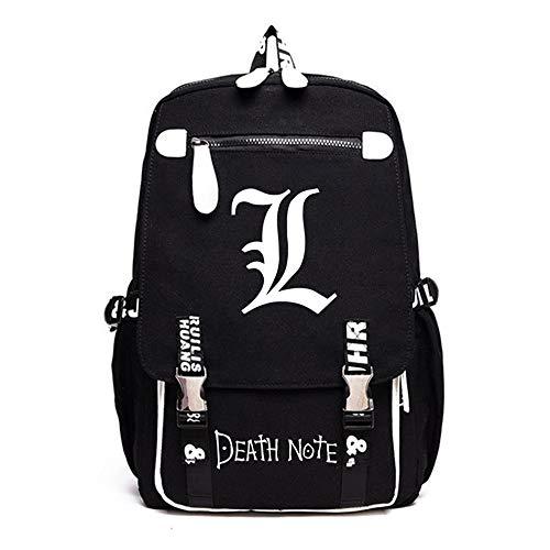 RuiHai Trading Death Note Anime PU + Oxford Stoff Casual Rucksack Schultasche Laptop Rucksack Daypack Satchel Knapsack College Bag Book Bag - RuiHai Trading Death Note Stoff