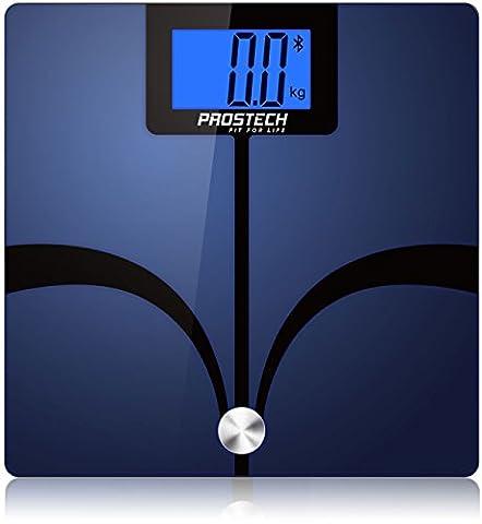 Pèse-personne impédancemètre design en verre connecté bluetooth avec suivi sur smartphone - 100% satisfaction garantie . Compatible avec Apple Santé pour les appareils iPhone et Android. Surveillez votre perte de poids progrès avec ces échelle de bain numérique