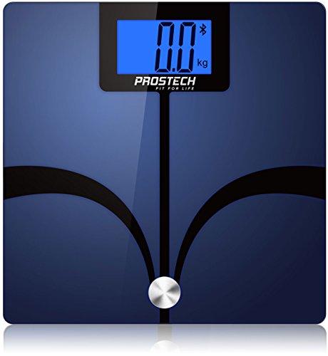 Intelligente Waagen - Bluetooth Körperfett Analyser. Kompatibel mit Apple Health für iPhone & Android-Geräte. Überwachen Sie Ihren Gewichtsverlust mit Hilfe dieser digitalen Personenwaage