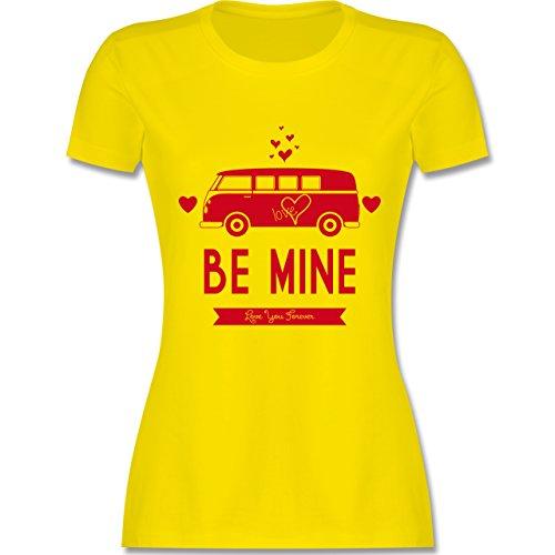Statement Shirts - Love Me Mine Bus T1 - tailliertes Premium T-Shirt mit Rundhalsausschnitt für Damen Lemon Gelb