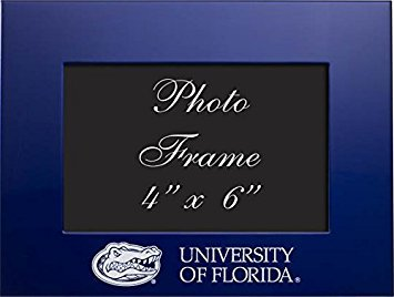 University of Florida - 4x6 Brushed Metal Picture Frame - Blue by LXG, Inc.