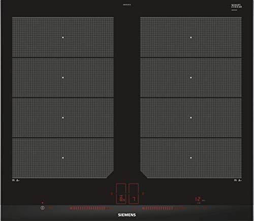 Siemens EX675LXC1E iQ700 Kochfeld Elektro / Ceran/Glaskeramik / 60,2 cm / Flexible Kochzonen - 2 varioInduktions-Kochzonen / schwarz