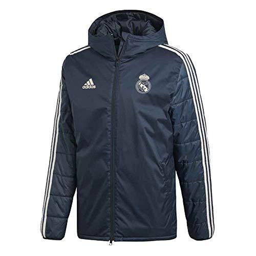 adidas Herren Real Madrid Winterjacke, tech Onix/Core White, L