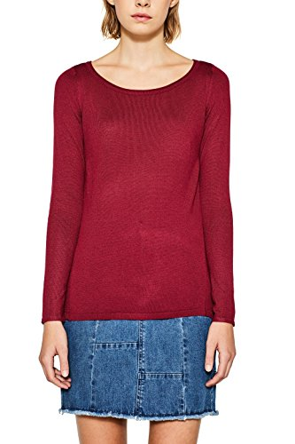 ESPRIT Damen 087EE1I026 Pullover, Rot (Cherry Red 615), Small