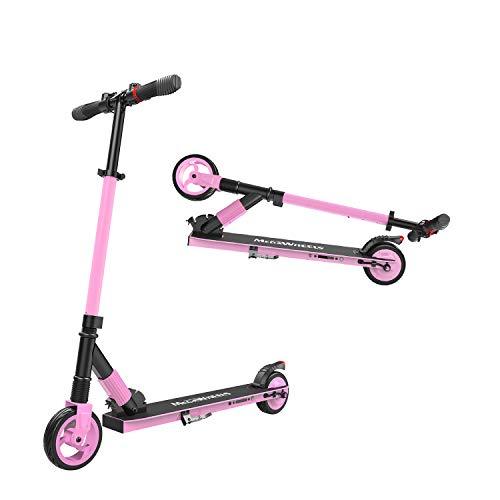 M MEGAWHEELS Elektro Scooter Klappbar City-Roller, Höhenverstellbar E Scooter, Tret-Roller für Erwachsene und Jugendliche S1 Pink