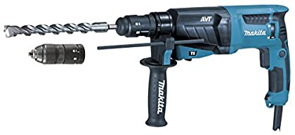 Makita HR2631FT12 Martillo ligero SDS-Plus 800W AVT + mandrino intercambiable + maletin