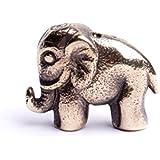 Éléphant miniature figurine objet décoration, cadeau porte bonheur collections animales fait à la main par By Mode France.
