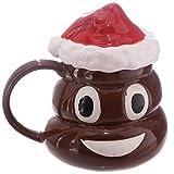 YMKCMC Becher 1 Stück Weihnachten Poop Becher Mit Deckel Emoji Tassen Smiley-Kaffee Macht Mich Poop Office Kaffeetasse