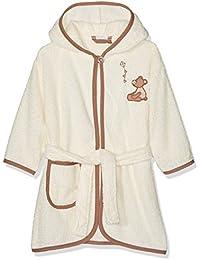 Playshoes Kinder Frottee-Bademantel mit Kapuze, flauschiger Morgenmantel für Jungen und Mädchen, mit Bär-Stickung