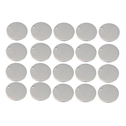 WYQY 20 Stück Metall flach rund Kreis blanko Münzen Stamping Charms Anhänger Anhänger Gravur Disc Münzen mehrere Größen Familienmitglieder Geschenk, 20 mm