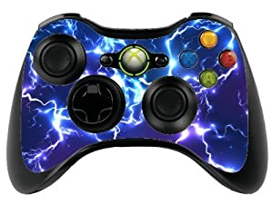 Blue Electric Xbox 360 Remote Controller/Gamepad Skin / Vinyl Cover / Vinyl xbr22