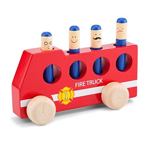 New Classic Toys - 10546 - Véhicule Miniature - Pop Up - Voiture De Pompier