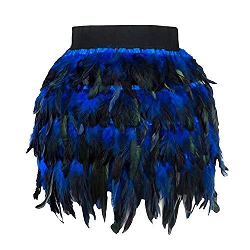 TUDUZ Feder Petticoat Damen Rock Reifrock Bühnenkostüm Petticoat für Karneval Partykleid A Line Cosplay Mini Unterrock ()
