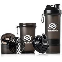 Smartshake Unisex Protein Mixer Bottle, Gunsmoke, 600 ml