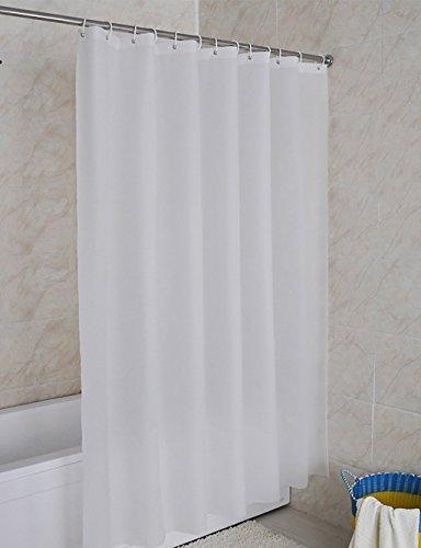 Duschvorhang einfach und rein weißen Vorhängen Schimmel Schimmel wasserdicht Opak kreative Vorhang Vorhang Vorhänge Hotel Bad Vorhang Multi-standard Duschvorhang (Größe: 220 * 180 cm).