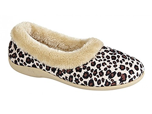 Dunlop, Pantofole Da Donna Leopardato (leopardato)